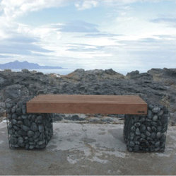 Gabion Bench - Sculptural Garden Bench