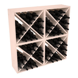 "Wine Racks America - 96 Bottle Wine Cube Collection in Ponderosa Pine, White Wash Stain - Perfect for moderate storage requirements and converting that ""underneath"" space into wine storage. Mix and match finishes to show your true wine-lover's spirit or experiment for a modern wine rack twist."
