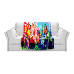 DiaNoche Designs - Throw Blanket Fleece - in the Company of Strangers - Original artwork printed to an ultra soft fleece blanket for a unique look and feel of your living room couch or bedroom space. Dianoche Designs uses images from artists all over the world to create Illuminated art, canvas art, sheets, pillows, duvets, blankets and many other items that you can print to. Every purchase supports an artist!