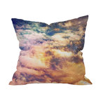 DENY Designs - Shannon Clark Cosmic Throw Pillow, 18x18x5 - Reach for the stars — and some soft style — with this pillow. Cosmic clouds, constellations and colors realistically printed on woven polyester are sure to add an atmospheric element to your sofa, bed or bench. It comes with a zipper closure and bun insert for out-of-this-world comfort.