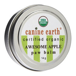 Canine Earth Awesome Apple Paw Balm - Your dog's paws can get dry or even crack this time of year, just like human hands. The dry air can get to them, but they're also exposed to stepping directly on ice and corrosive salt. This paw balm (say that five times fast) is a great way to moisturize your dog's paws safely.