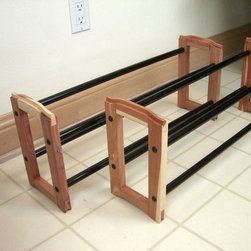 Proman Products - Expandable Stacking Cedar Shoe Rack - Expandable Stacking Cedar Shoe Rack, 2-tier