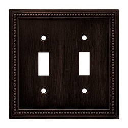 Liberty Hardware - Liberty Hardware 64409 Beaded WP Collection 4.96 Inch Switch Plate - The Beaded design adds elegance and sophistication to every room. The Venetian Bronze finish brings distinguished style and grace to any room. Quality zinc die cast base material. Available in the 10 most popular wall plate configurations. Width - 4.96 Inch, Height - 5 Inch, Projection - 0.3 Inch, Finish - Venetian Bronze, Weight - 0.54 Lbs.