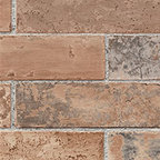 Patton - Ll29534 Faux Brick Wallpaper - LL29534 from Illusions is a rust and grey faux brick wallpaper.