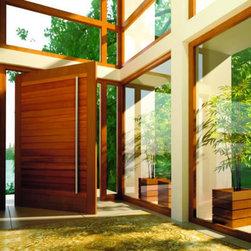Doors & Windows - Wood - Contemporary Pivot Door