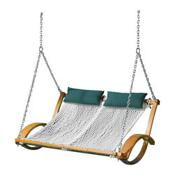 The Pawleys Island Hammock Swing - How about a hammock swing for two? The lattice-like weave contours to the shape of the body. Get ready to relax.