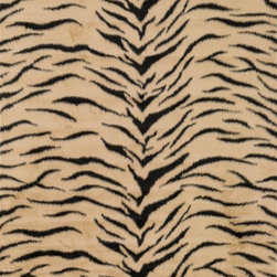 "Loloi Rugs - Loloi Rugs Danso Collection - Tiger, 5' x 7'-6"" - Chic safari animal prints are reinterpreted into ultra soft faux fur rugs in the Danso Collection. Made in China of 100% poly-acrylic, Danso's rich solids or cheetah, zebra, and tiger patterns are available in trend right colors that set these rugs ahead of the pack."