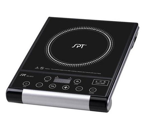 SPT Appliance - Micro-Computer Radiant Cooktop - Includes glass ceramic plate. Touch sensitive control panel. Digital with LED display. Radiant heat technology. 8 power settings. Upto 8 hours timer. Extremely durable and wear-resistant. Multiple safety features. Suitable for all cookwares. ETL and ETL-Sanitation certified. Input voltage: 120 V/60 Hz. Power consumption: 1500 watts. 15.5 in. L x 12.25 in. W x 2.75 in. H (7 lbs.)Portable radiant cook top gives you convenience, durability and elegance. Adds beauty to any kitchen and cooking environment.