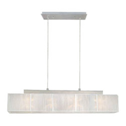 Eglo Lighting - Eglo 21959A Tosca 1 Matte Nickel Island Light - Eglo 21959A Tosca 1 Matte Nickel Island Light