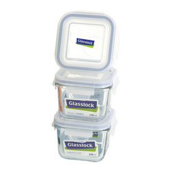 Glasslock 6pc Square Baby Box Set - Includes 3 x 0.9 cup