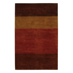 """Chandra - Contemporary Dream 5'x7'6"""" Rectangle Brown-Red Area Rug - The Dream area rug Collection offers an affordable assortment of Contemporary stylings. Dream features a blend of natural Brown-Red color. Hand Tufted of New Zealand Wool the Dream Collection is an intriguing compliment to any decor."""
