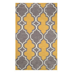 "nuLOOM - Contemporary 7' 6"" x 9' 6"" Gold Hand Tufted Area Rug Trellis GR08 - Made from the finest materials in the world and with the uttermost care, our rugs are a great addition to your home."