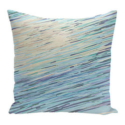 e by design - Abstract Coastal Blue and Brown 20-Inch Cotton Decorative Pillow - - Decorate and personalize your home with coastal cotton pillows that embody color and style from e by design   - Fill Material: Synthetic down  - Closure: Concealed Zipper  - Care Instructions: Spot clean recommended  - Made in USA e by design - CPO-GH18-Neutrals-20