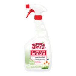 NATURE'S MIRACLE™ Stain & Odor Remover - When your pooch makes a mess on your carpets, furniture, clothing or other surface, tidy up the natural way with this enzyme-based stain and odor remover. The blend of nature's enzymes thoroughly cleans deep-set stains and smells to help keep your home fresh and tidy.