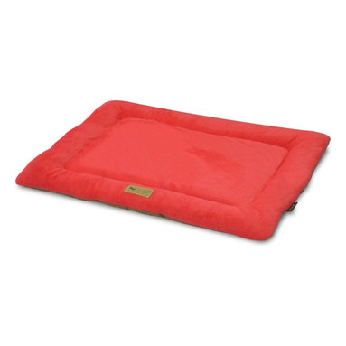 P.L.A.Y. - P.L.A.Y. Chill Pad Vermillion X Small - The P.L.A.Y. chill pad is a light and an extremely long lasting pad for your dog to sleep and rest on. The pad can be conveniently thrown at any spot in your home and being filled with an eco-friendly fiber, the pad is very safe for the environment, not to mention your dog. This chill pad is made keeping in mind the highest quality standards and it can be machine washed whenever needed.  Designed to fit most standard pet crates. Tough, durable construction ensures dog-years of use. Filled with the perfect amount and density of high-loft PlanetFill filler.  filler is made from 100% post-consumer certified-safe recycled plastic bottles. 4 edges ensure optimum elevated comfort for your pooch to rest its head on. Machine washable and dryer friendly. Made in a facility that meets the strict quality standards for infant and children products. Momo-approved and tested by her four-legged friends.