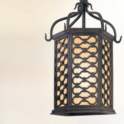 Troy Lighting - Los Olivos Outdoor Wall Pocket Lantern - Los Olivos Outdoor Wall Pocket Lantern features a hand forged iron frame in an old iron finish with an amber mist glass shade. Available in incandescent or fluorescent lamp sources. One 60-watt, 120 volt A19 medium base incandescent or one 13-watt, 120 volt GU24 compact fluorescent comes included. Dimensions: 7.5W x 14.5H x 6.25D.