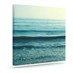 """Kess InHouse - Myan Soffia """"Somewhere"""" Blue Green Wrapped Art Canvas (12"""" x 10"""") - Bring your outdoor patio to life with this artistic outdoor canvas wrap featuring gorgeous artwork by KESS InHouse. These canvases are not only easy to hang and remove but also are the perfect addition to your patio collection. These canvases are stretched around a wooden frame and are built to withstand the elements and still look artistically fabulous. Decorating your patio and walls with these prints will add the splash of art and color that is needed to bring your patio collection together! With so many size options and artwork to choose from, there is no way to go wrong with these KESS Canvas Wraps!"""