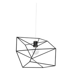 Iacoli & McAllister - Small Black Spica - Draw the line at boring design. This pendant light is framed by a seemingly random array of lines, making it different from every angle. Its wildly original looks are bound to delight and surprise your guests (and tickle your own fancy, too).