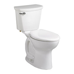 "American Standard - American Standard 215A.A104.020 Cadet Pro Right Height Elongated Toilet, White - American Standard 215A.A104.020 Cadet Pro Right Height Elongated Toilet, White. This vitreous china constructed elongated toilet meets EPA WaterSense criteria, a trade-exclusive tank, a PowerWash rim that scrubs the bowl with each flush, a robust metal left-sided trip lever/metal shank fill valve assembly, an EverClean surface, a 4"" piston-action Accelerator flush valve, a 12"" Rough-in, a chrome finish trip lever, and a fully-glazed 2-3/8"" trapway."