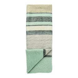 Shupaca - Striped Alpaca Throw, Seafoam - Time to get cozy with our alpaca throw blankets!