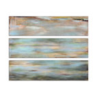 Uttermost - Horizon View Hand-Painted Panel, Set of 3 - Enjoy the sumptuous tones of a sunny horizon on your wall. This Grace Feyock giclée brilliantly captures the colorful palette of the ocean as the sun dances across. Who needs a view when you've got this vibrant artwork on your wall.