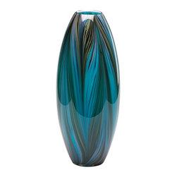 Cyan Design - Cyan Design 02920 Peacock Feather Vase - Cyan Design 02920 Peacock Feather Vase