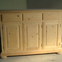 Unfinished 3 Door Pine Sideboard - Made by http://www.ecustomfinishes.com