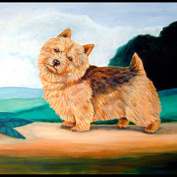 Caroline's Treasures - Norwich Terrier Indoor Or Outdoor Mat 24X36 Doormat - Indoor / Outdoor Mat 24x36 - 24 inches by 36 inches. Permanently dyed and fade resistant. Great for the front door or the back door.  Use this mat inside or outside.    Use a garden hose or power washer to chase the dirt off of the mat.  Do not scrub with a brush.  Use the Vacuum on floor setting.  Made in the USA.  Clean stain with a cleaner that does not produce suds.