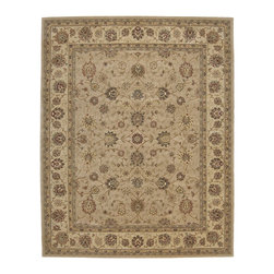 """Nourison - Nourison Nourison 2000 2071 (Camel) 9'9"""" x 13'9"""" Rug - Nourison's most popular hand-made signature collection features Persian and European designs of pure New Zealand wool, highlighted with intricately detailed designs of genuine pure silk. Offered in a wide assortment of shape and size options, including elegant rounds, high fashion ovals and rectangles - all, of course, in addition to a full assortment of standard room sizes and runners. Specially developed hand tufting techniques create a high-density pile that redefines luxury, beauty and value for handmade carpets."""