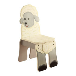 Teamson Design - Fantasy Fields Hand Painted Happy Farm Chair in Sheep - Teamson Design - Kids Chairs - TD11324A2S - Count your Zs and make resting more enjoyable with Teamsons Farm Sheep Chair. Chair is hand crafted and painted to resemble a sheep. Your child will love sitting and relaxing on their very own sheep chair. Chair is crafted to appear like your child is sitting right on the back of a sheep! Made from quality wood and crafted with love this is a treasure that can be passed down for years to come.