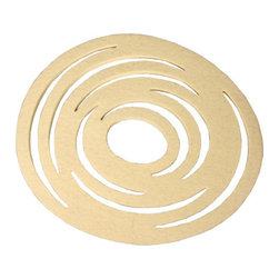 The Felt Store - Felt Trivet By Bookhou Design - 9 In Ivory - The Felt Trivets, by Bookhou Design, are die cut into a circular swirl shape, guaranteed to make any table top look modern and stylish. Crafted of a wool felt blend, these trivets are perfect for handling hot pots, pans, tea kettles, or under any serving dish. Available in Ivory, Cool Gray, Warm Gray and for a limited time, Red. Each trivet measures approximately 9 inches (228.6mm) in diameter and is 7mm(0.27 inches) thick.