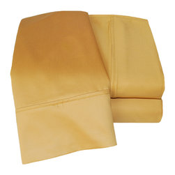 1000 Thread Count Cotton Rich Olympic Queen Gold Sheet Set - Cotton Rich 1000 Thread Count Olympic Queen Gold Sheet Set