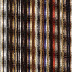Epingle Strip by Paul Smith Caramel Fabric - This soft striped fabric is very durable and provides a luxurious look and feel for any modern furniture piece.