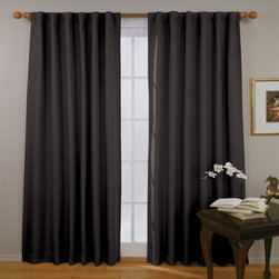 Eclipse Fresno 52 by 84-Inch Blackout Window Curtain, Black - 100% Polyester