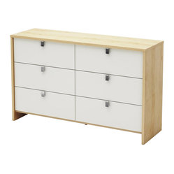 South Shore - South Shore Cookie Dresser in Champagne and White - South Shore - Kids Dressers - 3454027 - This Cookie 6-Drawer Dresser in Champagne & White finish allows the continuous evolution of a room while adapting to each child's age and needs. As time goes by children's interests change and their needs change. Match this dresser with the items of your choice to create a room that will grow well with your child! It features 6 drawers with chromed finish metal handles. Presents new and improved drawer bottoms made with wood fibers.