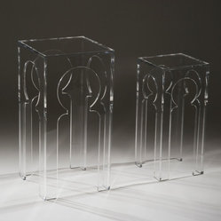 Clearly Classic Collection - Tangier Tables (Large & Small) in Clear