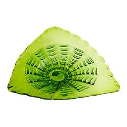 Cyan Design - Leafy Echo Plate - Small - Small leafy echo plate - green