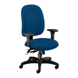 OFM - OFM Ergonomic Task Computer Chair in Navy - OFM - Office Chairs - 125804 - Others will notice the style you'll feel the ergonomic support with OFM's Ergonomic Task Chair. Features 7 ergonomic adjustments: back height back angle back depth gas lift seat height seat tilt/lock/tension control plus 7-position arm height. Users will easily find their ideal positioning plus enjoy the built-in lumbar support. Weight capacity is up to 250 lbs.