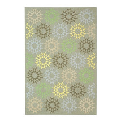 Safavieh - Martha Stewart Rug in Opal and Gray (5 ft. 9 in. x 3 ft. 9 in.) - Size: 5 ft. 9 in. x 3 ft. 9 in. Hand hooked. Floral design. Made from cotton. Pile height: 0. 25 in. The classic geometrics of an American Country Quilt appear refreshingly new in the soft and contemporary Block Quilt. Natural cotton yarns are densely hand-tufted in China to create a loop-pile background and subtle cut-pile motif, enhanced by the muted tonalities of its neutral palette.