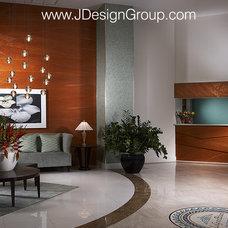 Modern Hall by J Design Group - Interior Designers Miami - Modern