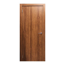 "Walnut Plain, 32"" X 80"", Butterfly Hinges, Pre-Hung - Walnut PLAIN"