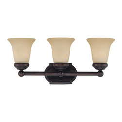 Savoy House Lighting - Savoy House Lighting 8P-60500-3-13 Bath Bar Traditional Bathroom Light - This transitional collection has a rich English Bronze finish perfectly complemented by Tinted Scavo glass.