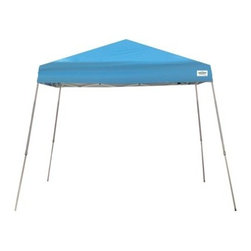 "Caravan Canopy 12 x 12 ft. V-Series Instant Canopy - The Caravan Canopy 12 x 12 ft. V-Series Instant Canopy provides shade and shelter in a hurry and nearly anywhere. This easy top features a fire- and UV-resistant polyester top, a powder-coated steel frame with slat legs and a cathedral-style roof. Includes everything you need to transport and set up including a stake kit and easy storage roller bag.About Caravan CanopyPop up a Caravan Canopy top, and instantly your world is a better place. Under the protection of Caravan Canopy's products, friends can gather, families can relax, and business associates can meet. Caravan Canopy is the original maker of the ""pull-pin slider,"" making it the brand that thousands of canopy owners worldwide call the ""Manufacturer of the World's Finest Canopy."" Fire-resistant, strong, and guaranteed, California-based Caravan Canopy is an excellent choice."