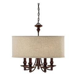 Capital Lighting Fixture Company - Midtown Burnished Bronze Five-Light Chandelier - Midtown Burnished Bronze Five-Light Chandelier Capital Lighting Fixture Company - 3915BB-454