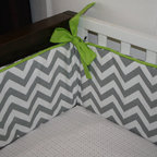 Chevron Custom Crib Bumper by Tuft Love Fabric - Maybe the bed is where you want to show off a little zigzag action. A custom-made crib bumper is a fantastic addition to a baby's room.