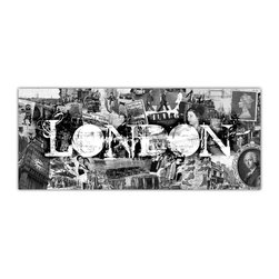 "Ready2HangArt - Ready2hangart Alexis Bueno Vintage B&W London Canvas Wall Art - Artist Alexis Bueno, takes you through the history of select cities and countries with his series Vintage Black & White. The abstract rendition in canvas art is offered as part of a limited ""Home Decor"" line."