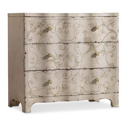 Hooker Furniture - Three Drawer Handpainted Chest - White glove, in-home delivery included!  Crafted with poplar and hardwood solids, this chest features three drawers.