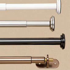 Metal Curtain Rods, Sturdy Curtain Rods, Sturdy Curtain Rod - Country Curtains®
