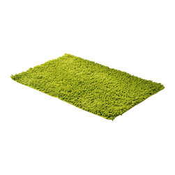 Shaggy Loop Bath Rug Anise Green - This shaggy loop bath rug is 100% cotton. Thick fabric and ultra-soft touch, it will add a luxurious and contemporary style to your bathroom. Lush, deep, and inviting, you can luxuriously sink your toes into it! Machine wash cold and no dryer. Manufacturer recommends using a nonskid pad beneath the rug (not included). Indoor use only. Width 17-Inch and length 29.5-Inch. Color anise green. This shaggy rug delivers a sparkly, lustrous look that instantly updates your bathroom decor. Imported.