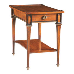 Sherrill Occasional - Sherrill Occasional Small Side Table 730-810 - Lightly scaled drawer end table with shelf. A more casual sophisticated answer for today's traditional setting.